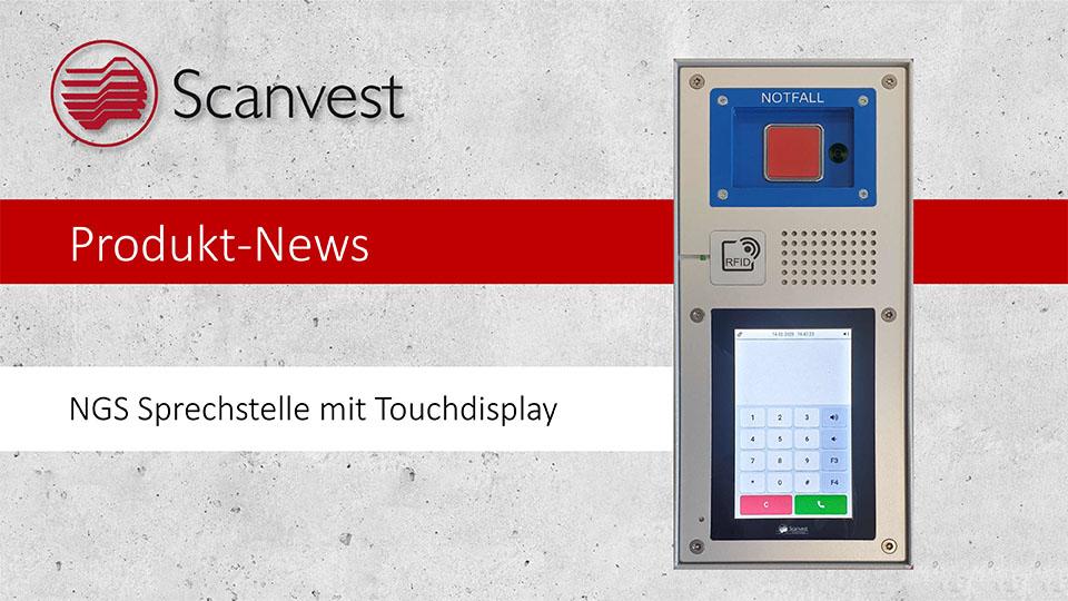 NGS Sprechstelle mit Touchdisplay