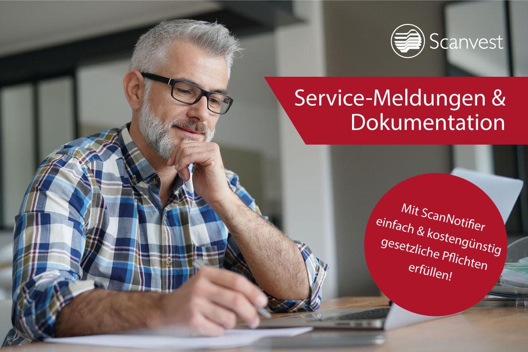 ScanNotifier für Service-Meldungen und Dokumentation